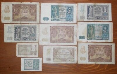 Wehrmacht - Set Of German Wwii Bank Notes For Occupied Poland 1941