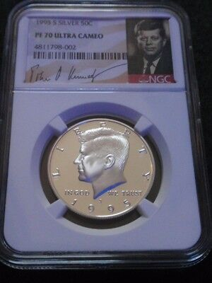 1995 Silver Kennedy Half Dollar S 50c Proof NGC PF70 Ultra Cameo Signature Label