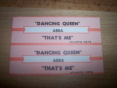 "2 ABBA Dancing Queen / That's Me Jukebox Title Strips CD 7"" 45RPM Records"