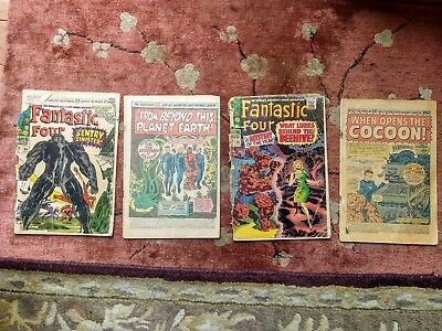 Lot of 4 Silver Age Fantastic Four  64,65,66,67 Readers
