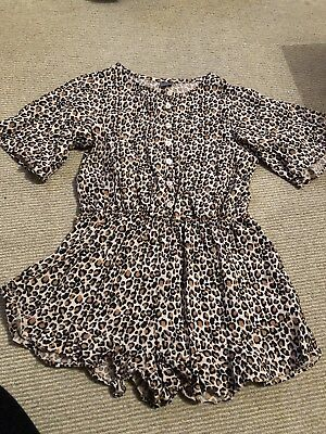 Next Leopard Print Playsuit Age 7/8