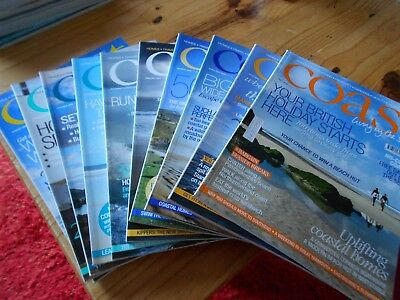 Coast living by the sea magazine bundle - issues - 31-40 dated - 2008-2009