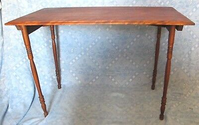 Vintage Antique  Wood Folding Sewing Table
