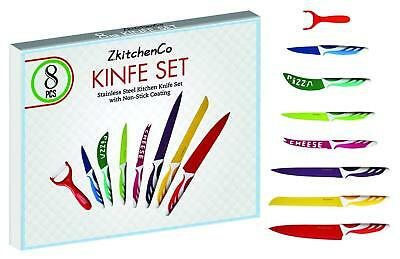 Cutlery Ceramic Home Kitchen Supplies Multi-Colored Knives 8 Set Peeler BPA free