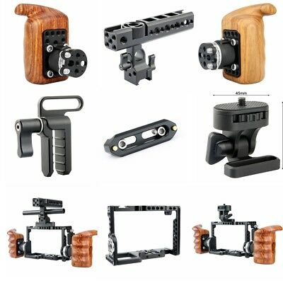 Niceyrig Camera Wooden Handle Cage Kit For Sony A7RIII A7MIII A7RII A7SII A7III