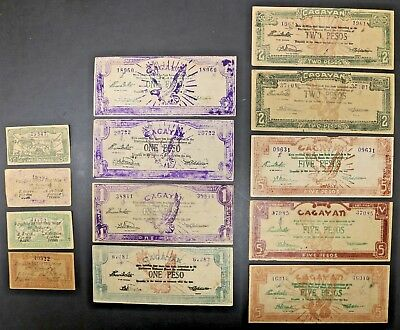 Philippines WW2 Cagayan Emergency Certificate Large Lot of Many Denominations