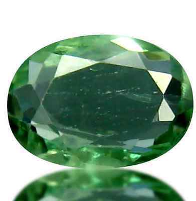 0.60ct Natural Oval-cut Green- Orange color-changing VVS Alexandrite (Sri-Lanka)
