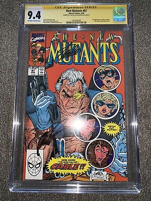 New Mutants #87 Cgc 9.4 Ss Signed By The Late Stan Lee & Rob Liefeld 1St Cable!!