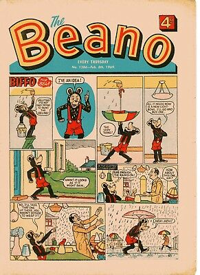 Beano Comic # 1386 February 8th 1969 Biffo Dennis The Menace