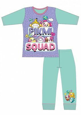 Girls Pikmi Pops Pjs Kids Long Sleeve Character Squad Pyjamas Age 4-10 New