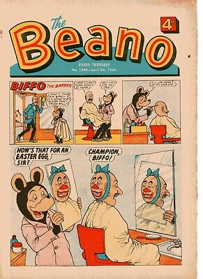 Beano Comic # 1394 April 5th 1969 Easter Issue Biffo Dennis The Menace