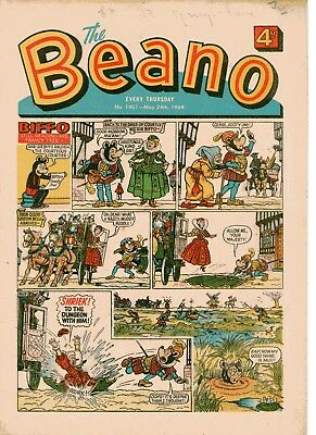Beano Comic # 1401 May 24th 1969 Biffo Dennis The Menace