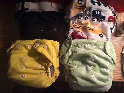reusable nappies x4 unisex design natural baby /dudeybaba