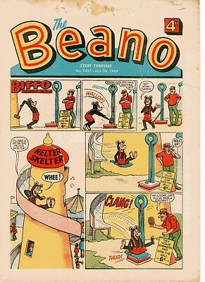 Beano Comic # 1407 July 5th 1969 Biffo Dennis The Menace