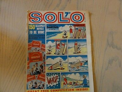 SOLO COMIC - 13th May 1967 - ISSUE 13 - TV & DISNEY - CITY MAGAZINES