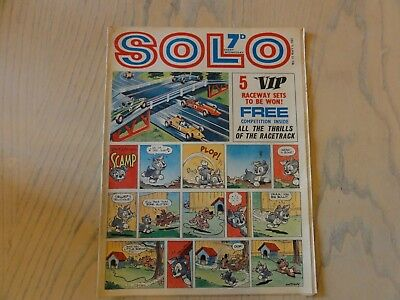SOLO COMIC - 6th May 1967 - ISSUE 12 - TV & DISNEY - CITY MAGAZINES
