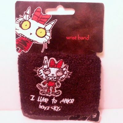 NEW (SWEETYPUSS I Like To Make Boys Cry Wristband) Insane Cat! Benton Sweatband