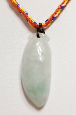 Burma Natural Jadeite Jade Chili Pendant (小辣椒) 30 mm Height Colorful Neck Cord