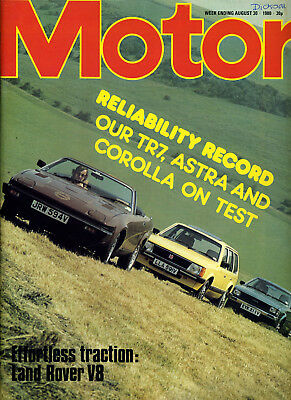 Motor - 30th August 1980 Giuletta 2.0 TR7 Astra Estate Corolla 1.6DX