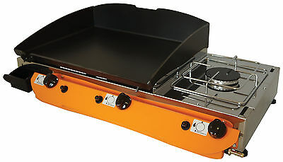 Lpg Griddle Barbecue Hot Plate 51x40 cm With Cooker 3kw Gasgrill Stahl-Plancha
