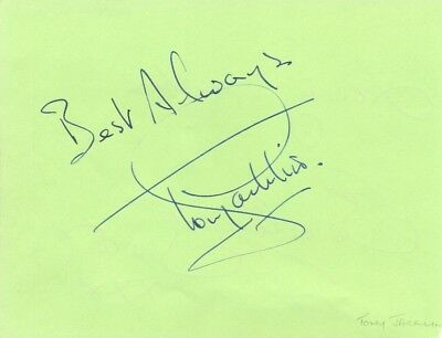 Tony Jacklin + The Beverley Sisters signed autograph album page English golfer