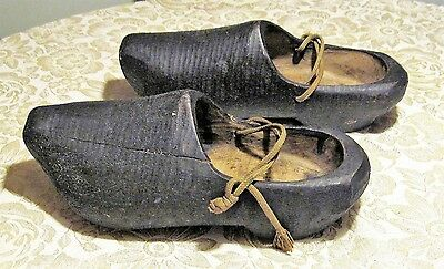 Authentic Antique Wooden Shoes from Holland