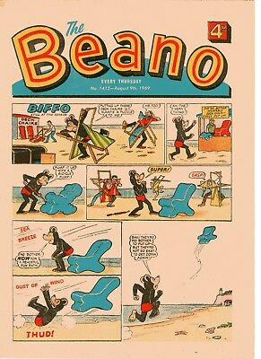 Beano Comic # 1412 August 9th 1969 Biffo Dennis The Menace