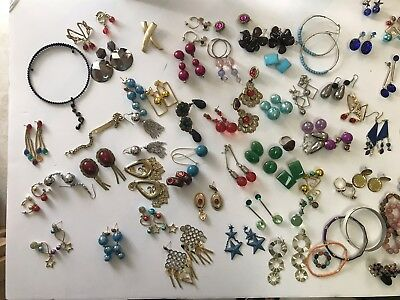 120+ Pieces Of Vintage To Modern Jewelry Earrings Bracelets Necklaces Brooches