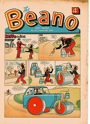 Beano Comic # 1415 August 30th 1969 Biffo Dennis The Menace