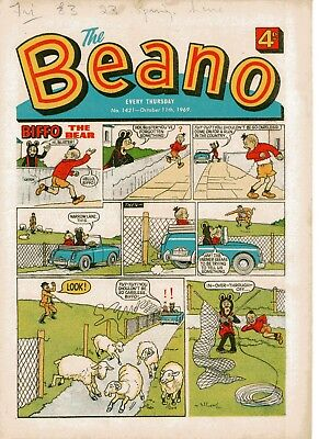 Beano Comic # 1421 October 11th 1969 Biffo Dennis The Menace
