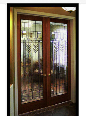 Genuine  Stain Glass doors  FLW 512 with Stunning Design of glass