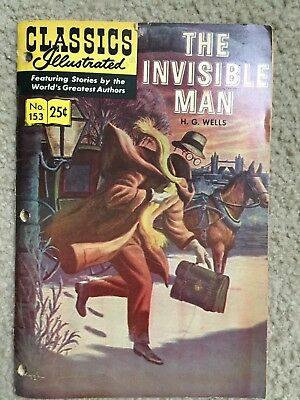 Classics Illustrated #153 The Invisible Man, by H.G. Wells