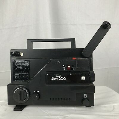 Vintage Movie Projector Sears Dual 8 Silent 200 Analog Film Camera Tested Works