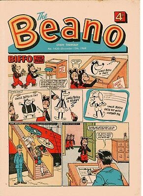 Beano Comic # 1430 December 13th 1969 Biffo Dennis The Menace