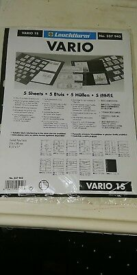 New Vario Stock Sheets 1S Two-Sided  one Pocket Black Pkg. 5