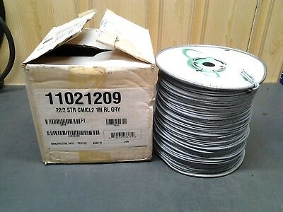 Genesis 22/2C Stranded Security/Control Cable Grey /1000ft