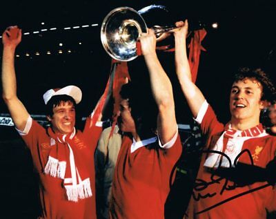 Signed Phil Neal Liverpool Autograph European Cup 1978 Photo