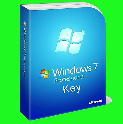 Windows 7 Professional 32/64 Bit Retail Genuine Activation Key Fast Delivery