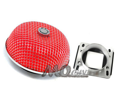 MAF Mass Air Sensor Adapter+Red Intake Filter for Toyota 86-94 Celica