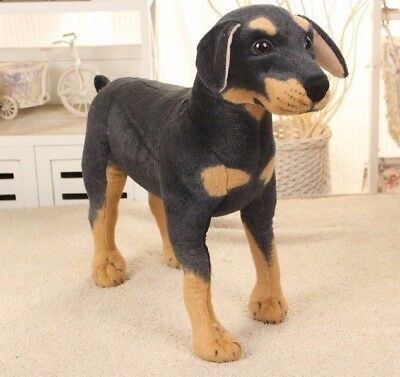 Large Rottweiler Standing Lifelike Stuffed Animal Dog Plush Toy 60 cm UK