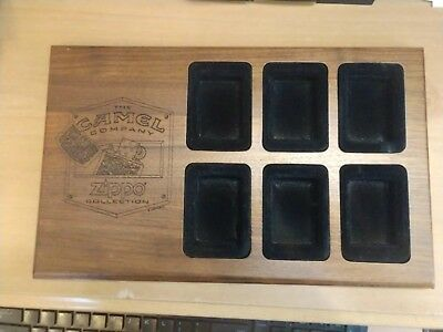 Camel Cigarettes Zippo Collection Wood Display 6 Piece Display