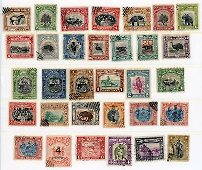 North Borneo Selection of 32 Mint & Used Stamps, LOOK!