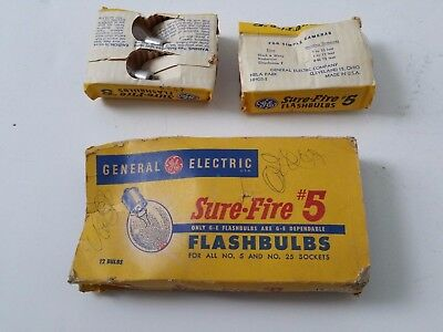 New Lot of 7 Vintage General Electric Sure Fire Surefire Flashbulbs #5