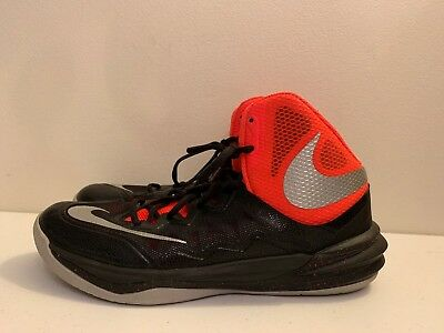 best cheap ffdf9 29276 EXC+ Nike Prime Hype DF II Basketball Shoes 806941-006 Black Red Men s Size