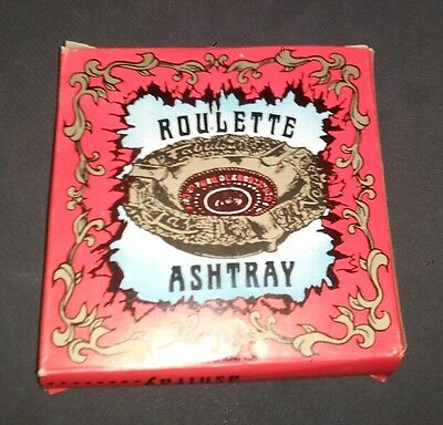 Vintage Karol Western 1978 Las Vegas Copper Plate Roulette Ashtray With Box