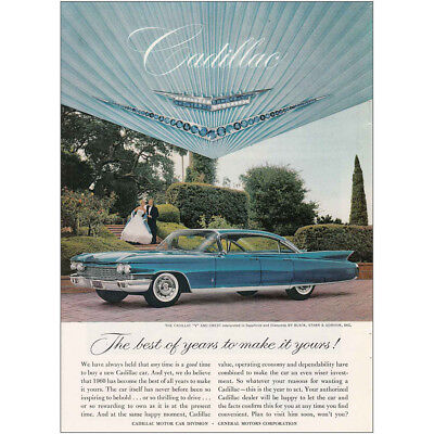 1960 Cadillac: Best of Years to Make It Yours Vintage Print Ad