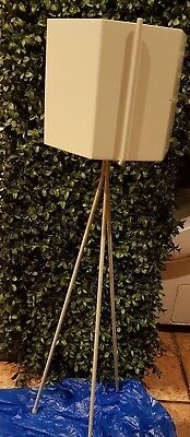 Ferm Living Light Grey Plant Stand And Extra Large Hexagon Plant Pot