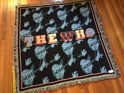 "THE WHO - 52"" Throw / Blanket - Pete Townshend & Guitars - Woven , not printed"