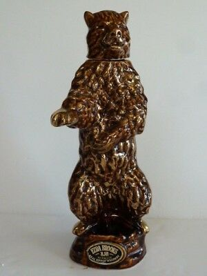 Vintage Ezra Brooks 1968 Collectors Series Golden Grizzly Bear Heritage Decanter