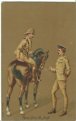 """Military Art Postcard - """"News From the Front"""" - British?"""